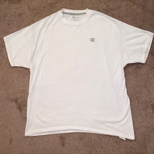 🔥CHAMPION ALL WHITE TEE XL